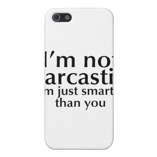 I'm not sarcastic iPhone 5 cover