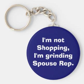 I'm not Shopping, I'm grinding Spouse Rep. Key Ring