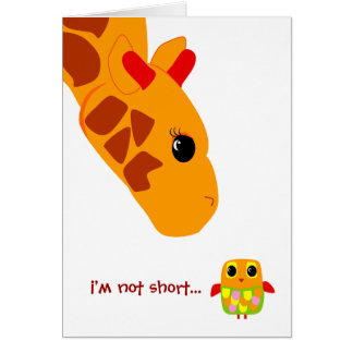 Im not short, Im fun sized! Note Card