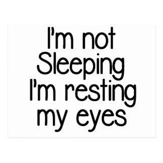 I'm not sleeping funny postcard