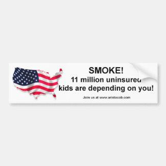 I'm not smoking, I'm insuring the Children! Car Bumper Sticker