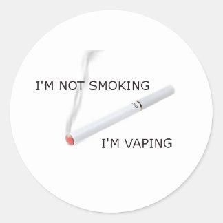 Im not smoking Im vaping Classic Round Sticker