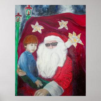 """ I'm Not So Sure I Trust Santa Claus"" Poster"