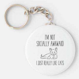 I'm Not Socially Awkward Key Ring