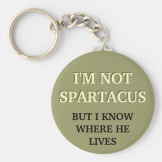I'm Not Spartacus Basic Round Button Key Ring