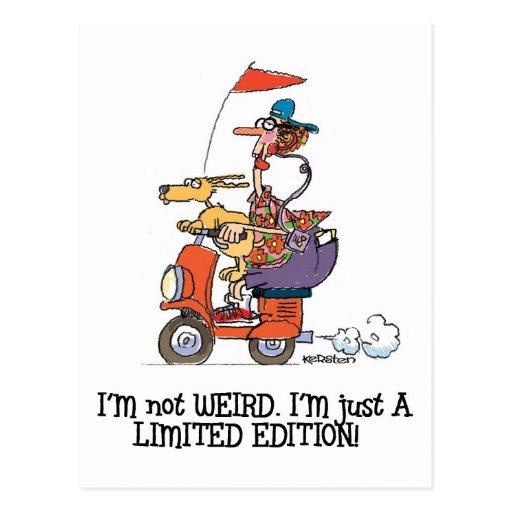 I'm Not Weird - Funny Nerd/geek Postcards