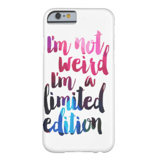 i'm not weird i'm a limited edition iPhone case