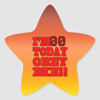 I'm - Obey Me! Funny Customize Birthday Template Star Sticker