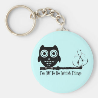 I'm off to do british things basic round button key ring