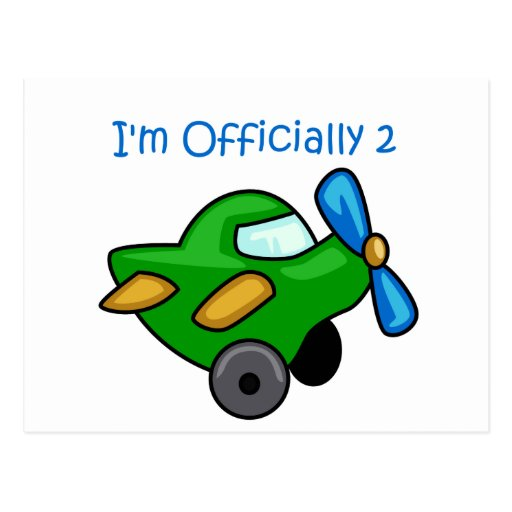 I'm Officially 2, Jet Plane Post Card
