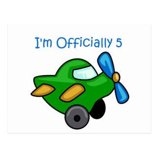I'm Officially 5, Jet Plane Postcard