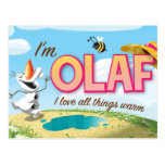 I'm Olaf, I Love All Things Warm Postcards