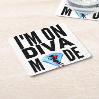 I'M ON DIVA M💎DE SQUARE PAPER COASTER