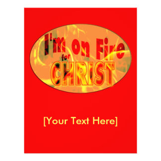 I'm on fire for CHRIST 21.5 Cm X 28 Cm Flyer