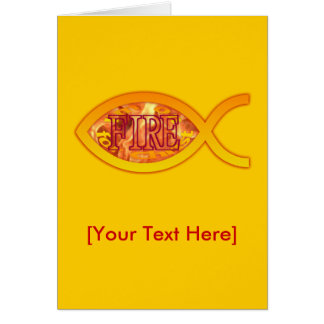I'm on FIRE for Christ - Christian Fish Symbol Cards