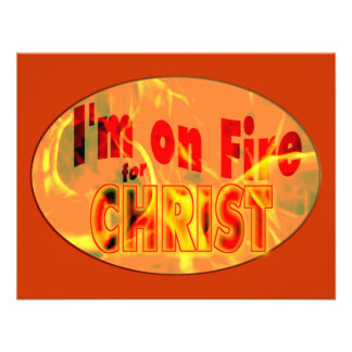 I'm on fire for CHRIST Personalized Invitations