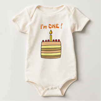I'm One! Baby's Bodysuit ,T- Shirt, T-Shirts