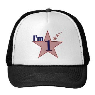 I'm one (boy 1st birthday party) hats