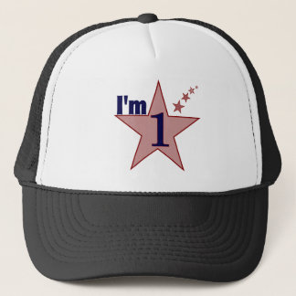 I'm one (boy 1st birthday party) trucker hat