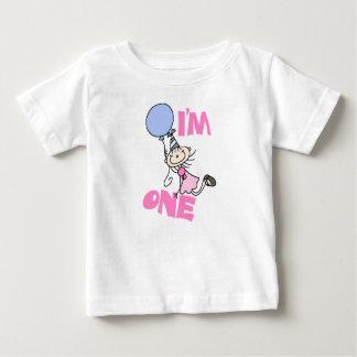 I'm One Stick Figure Girl Birthday Baby T-Shirt