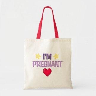 I'm Pregnant Canvas Bag