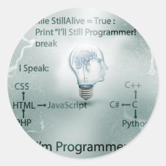 I'm Programmer Classic Round Sticker