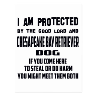 I'm protected by good lord and Chesapeake Bay Retr Postcard