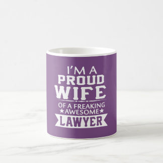 I'M PROUD LAWYER'S WIFE COFFEE MUG