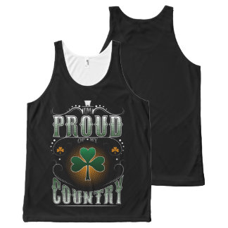 i'm proud of my country All-Over print singlet