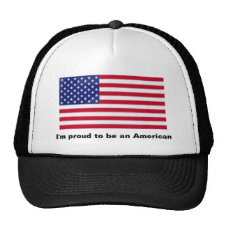 I'm proud to be an American Mesh Hat