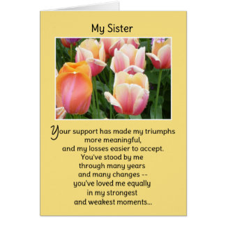 I'm proud to call you my sister... card