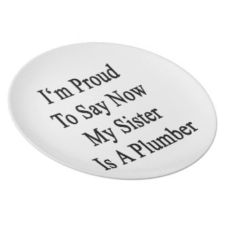 I'm Proud To Say Now My Sister Is A Plumber Dinner Plates
