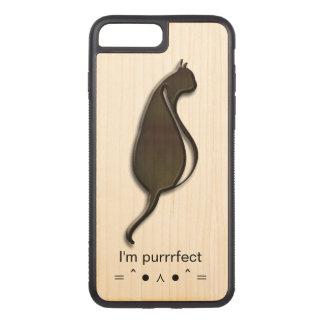I'm Purrrfect iPhone 7 Plus Slim Cherry Wood Case