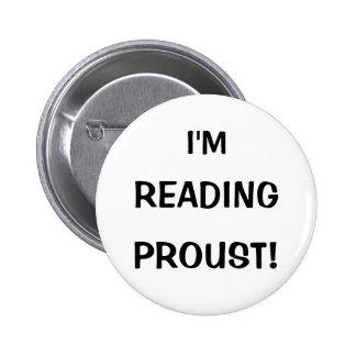"""I'm Reading Proust!"" 6 Cm Round Badge"