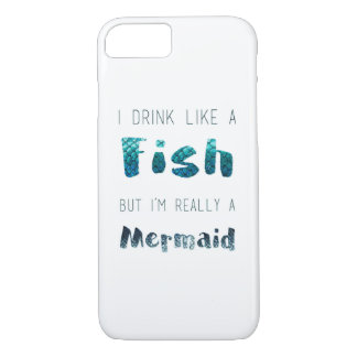 I'm Really A Mermaid, Funny Quote iPhone 8/7 Case