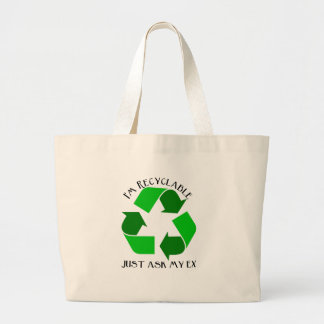 I'm recycleable large tote bag