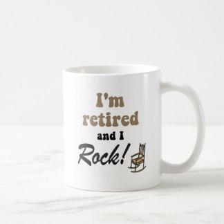 I'm retired and I rock! Basic White Mug