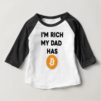 I'm Rich - My Dad has Bitcoin Baby T-Shirt