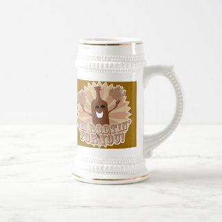 I'm rootin for you! beer stein