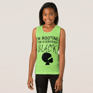 """""""I'm rooting for everybody black"""" girl's tank 2"""