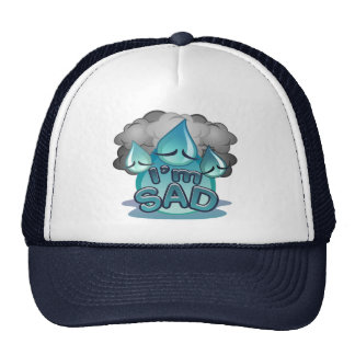 I'm Sad navy Trucker Hat