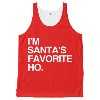 I'M SANTA'S FAVORITE HO -.png All-Over Print Tank Top