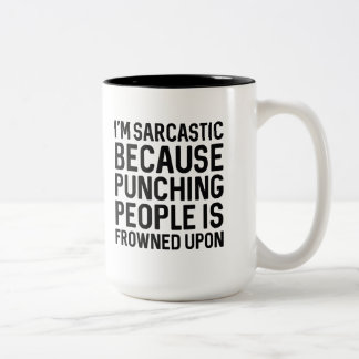 I'm Sarcastic Two-Tone Coffee Mug