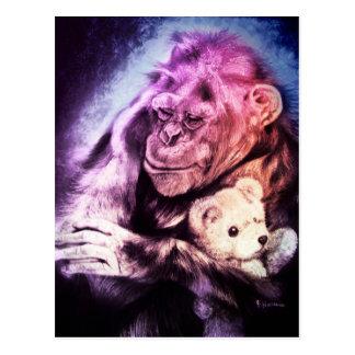 I'm sending you some kisses... Chimpanzee Card