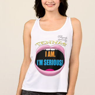 I'm Serious Tennis Performance Tank top