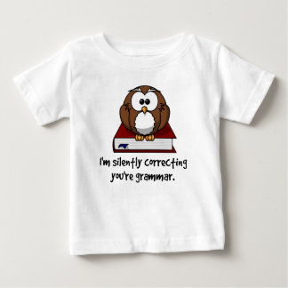 I'm Silently Correcting Your Grammar Wise Owl Baby T-Shirt