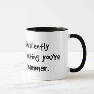 I'm Silently Correcting Your Grammar Wise Owl Mug
