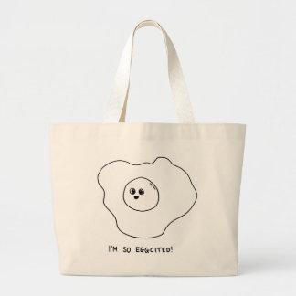 I'm So Eggcited Large Tote Bag