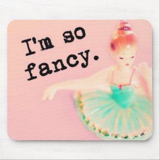 I'm so fancy ballerina mousepad pink
