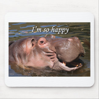 I'm so happy: hippo mouse pad